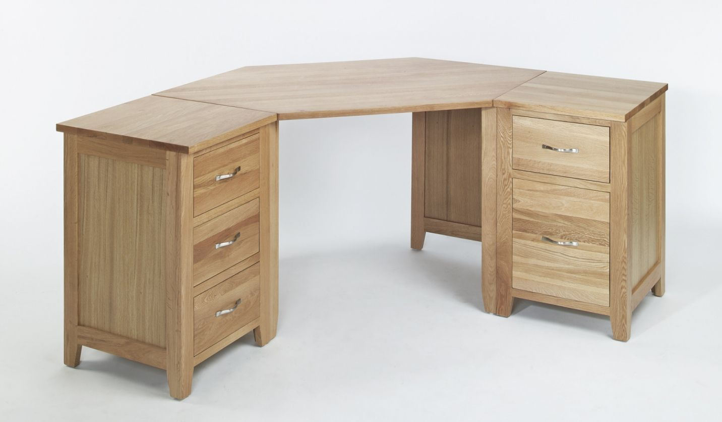Oak Corner Office Desk - Home Office Furniture Collections Check ...