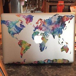 Vati leaves removable colorful world map protective full cover vinyl vati leaves removable colorful world map protective full cover vinyl art skin decal sticker cover for apple macbook pro inch gumiabroncs Gallery