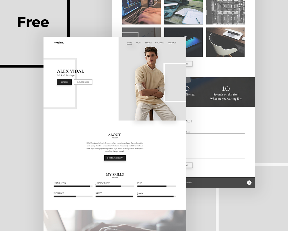 Web Templates 25 Professional Free PSD Templates