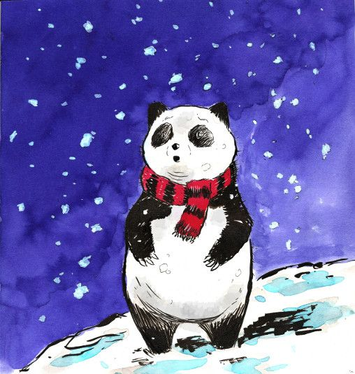 Watercolor Christmas Illustration. By Michael Porter
