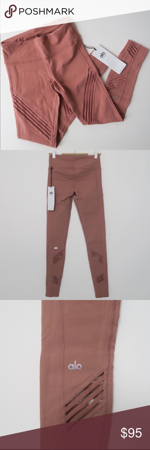f4cc661935 ALO yoga Multi legging Rosewater Leggings NEW, XS Brand new with tag,  color: Rosewater (like pastel dark peach), XS. 100% Authentic. ALO Yoga  Pants Leggings