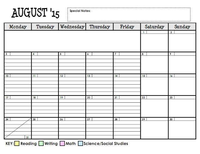 lesson plan series the planning calendar school. Black Bedroom Furniture Sets. Home Design Ideas