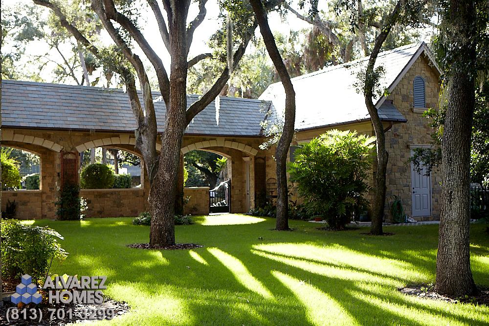 The Cau Back Yard By Home Builders Tampa Fl Alvarez
