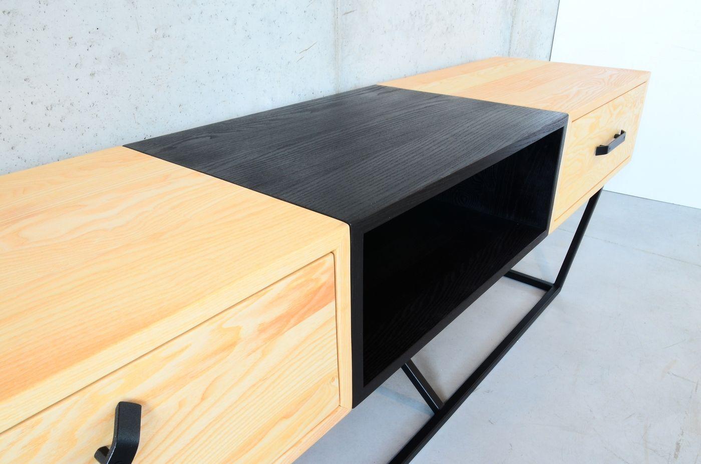 Czarna Sklejka Jesion Barwiony Bejca Na Czarno Wykonczony Czarnym Olejem Design Furniture Home Decor