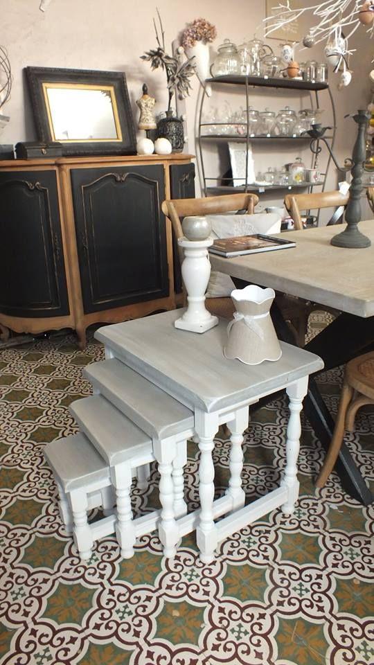 Table Gigogne Patines Anciennes 788 Rue Morimetz 59226 Rumegies 0649882066 Renovation Meuble Relooking Meuble Mobilier De Salon