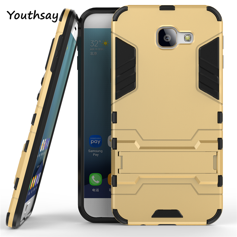 For Samsung Galaxy A8 2016 Case Slim Phone Case Anti-Knock Robot Hybrid Silicone Hard Back Cover for Samsung A8 2016 A810 5.7 ''