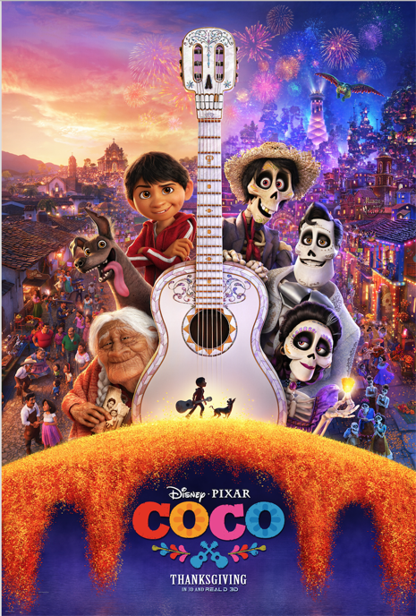New Poster For Disney Pixar Film Coco Now Available Full Movies Download Pixar Films Pixar Movies