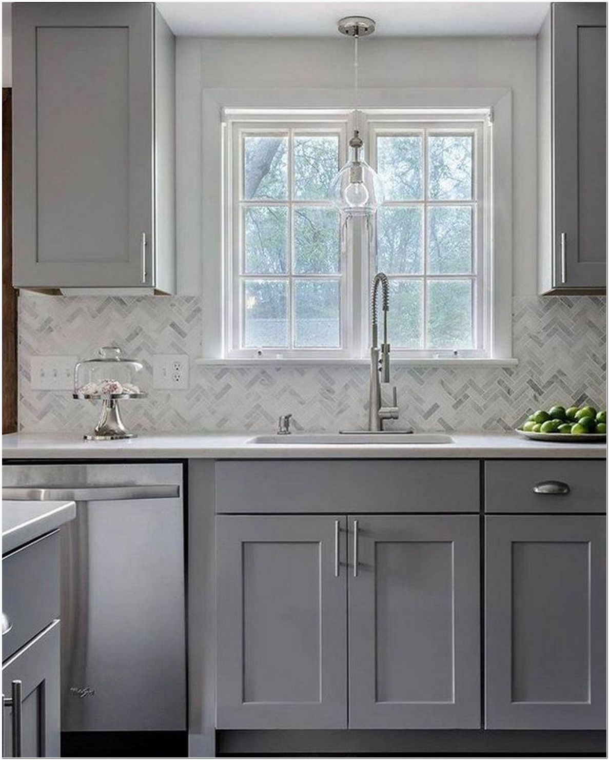 65 the battle over gray kitchen cabinets painted sherwin williams and how to win it 2 on kitchen decor grey cabinets id=96471