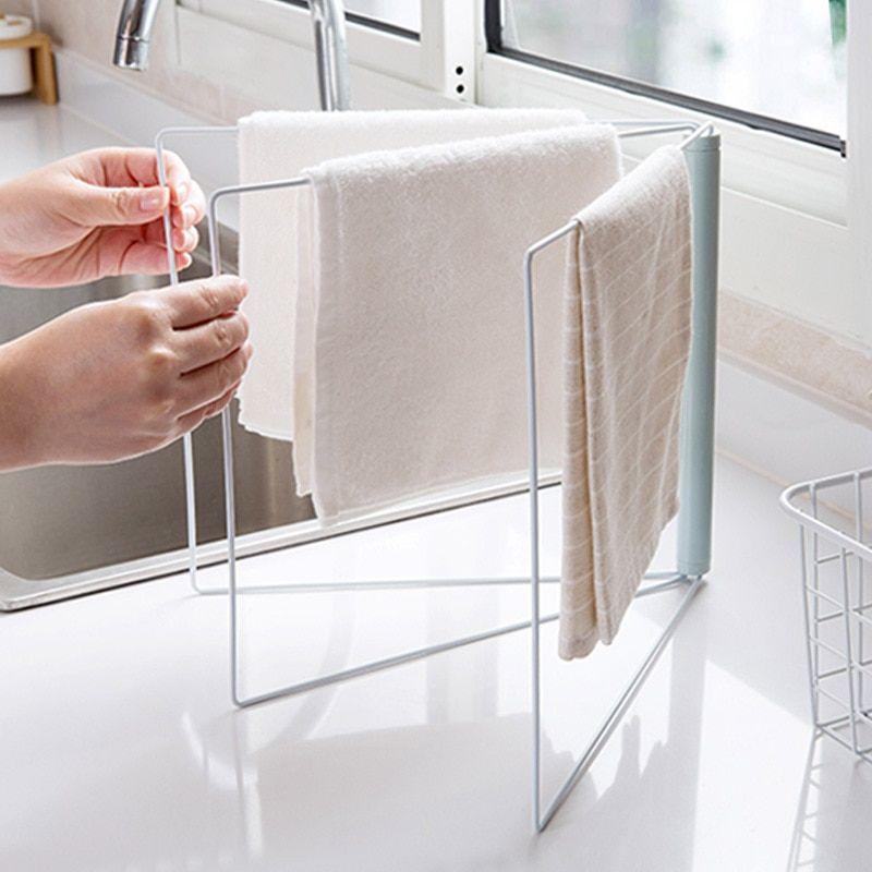 24 5 28cm Folding Dish Towels Drying Rack Kitchen Organizer Towel Rack Holder 2019 New Nordic Metal Storage Racks Holders Metal Storage Racks Diy Storage Space Diy Kitchen Storage