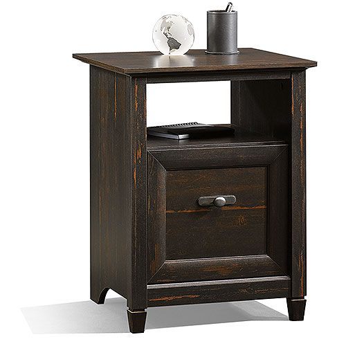 Sauder New Cottage 3 In 1 File Cabinet And Utility Stand, Antiqued Black  Paint