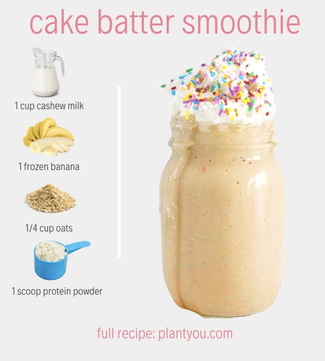 Cake Batter Smoothie Plantyou Com High Protein Smoothie Recipes Protein Smoothie Recipes Easy Smoothie Recipes