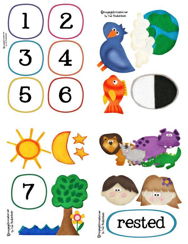 The Creation Felt Story Set Bible Crafts Preschool Bible Sunday School Crafts