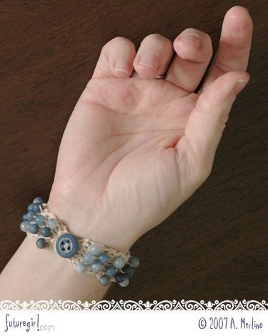 Crochet Bracelet With Beads Free Pattern I Would Love To Try This