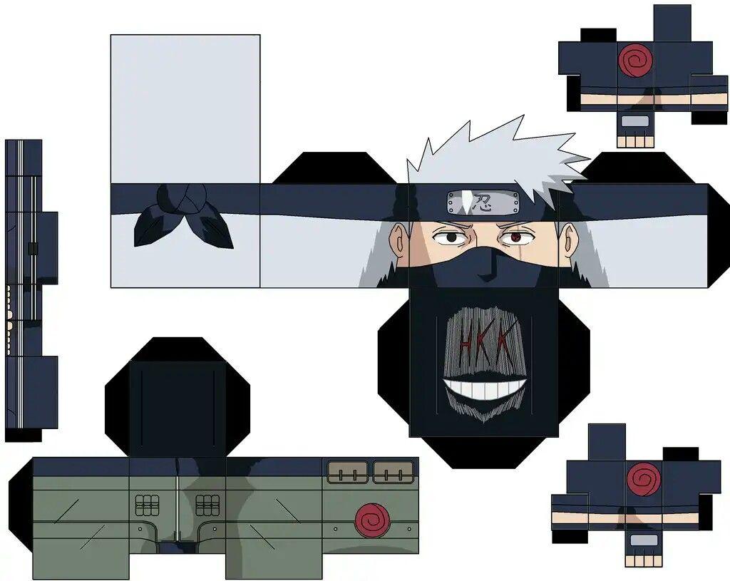 Hatake Kakashi  Artesanato de anime, Brinquedos de papel