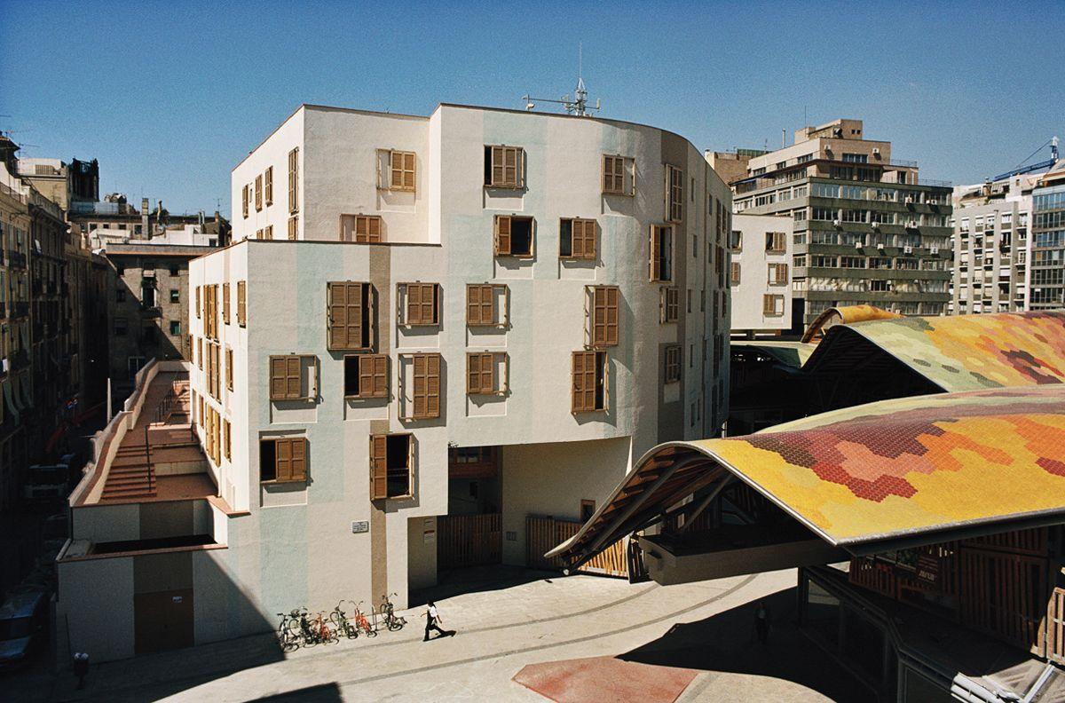 Rehabilitation of Santa Caterina Market by Enric Miralles ,Barcelona