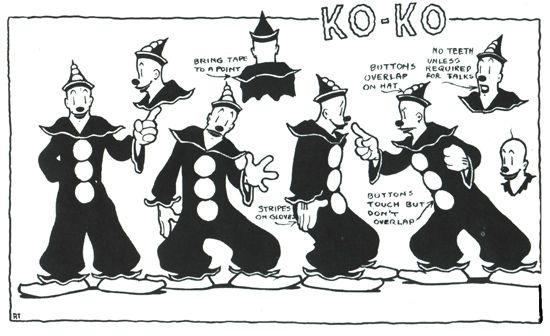 Koko the Clown from Fleischer Studios