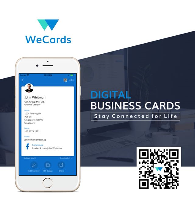 Did You Try It Quick Download Scan Qr Code And Install The App Wecards Is The App That Keeps Al Digital Business Card Business Card App Digital Business
