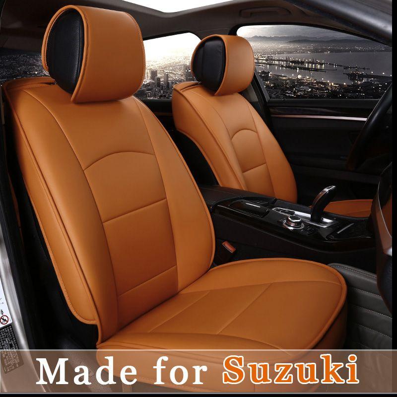 Leather Car Seat Cover For Suzuki Alto Jimny Swift Sport Sx4 Vitara Kizashi 5 Seat Cushion 4 Season Seat Leather Car Seat Covers Car Seats Leather Seat Covers