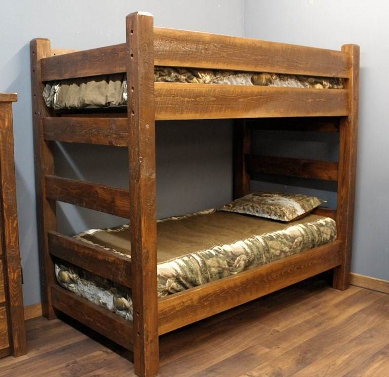 Lodge Xl Twin Over Xl Twin Barnwood Bunk Bed Diy Bunk Bed Kids