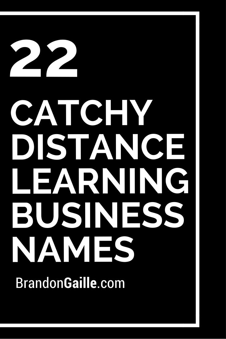 Catchy Distance Learning Business Names