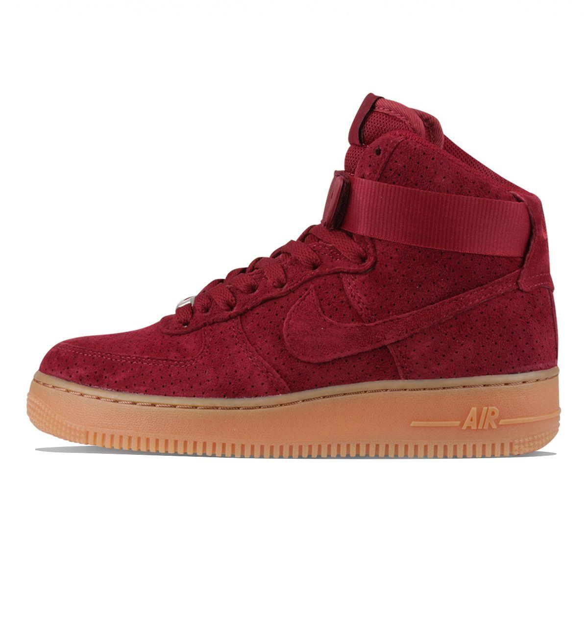 cheap for discount 7b513 e02eb Nike WMNS Air Force 1 Hi Suede Team Red  Team Red - Nike This Womens Nike  Air Force 1 High Suede in team red has all suede uppers, a gum midsole ...