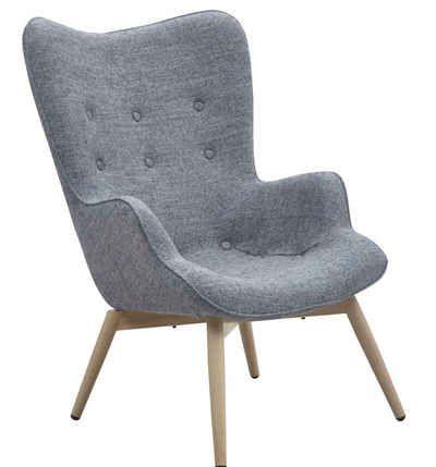Loungesessel  SalesFever Sessel Loungesessel mit Armlehnen und Wolle bezogen im ...