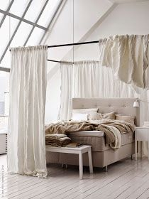 Bed canopies help create the feeling of having a sleep sanctuary to retreat to after a long busy day. You can create your own bed canopy by draping ... & Daily Dream Decor: IKEA\u0027s time travel experiment | Bedroom ...
