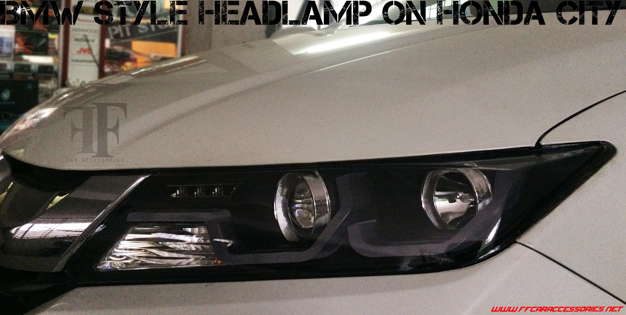 Headlamp Conversion On Honda City With Images Car Accessories Car Seats Honda City