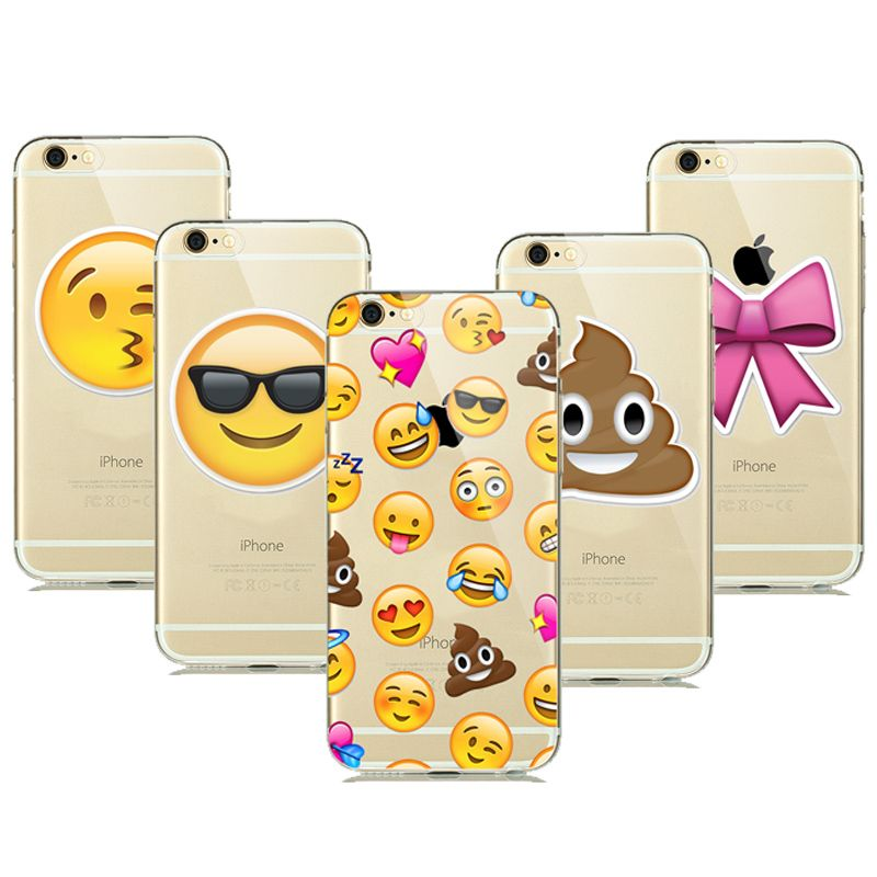 Cute Funny Emoji Case For Coque Iphone 5 5s 6 6s 6 S Plus Clear Silicone Cellphone Cases Cover Facial Emotion Emoji Phone Cases Funny Emoji Iphone Phone Cases