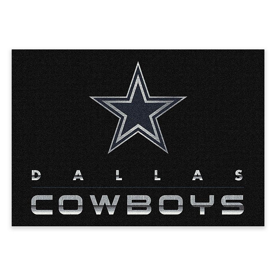 Nfl Dallas Cowboys 8 X 11 Chrome Area Rug Multi Area