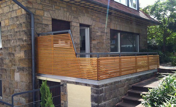 Noch ein Geländer mit Holz ein Geländer Holz MIT