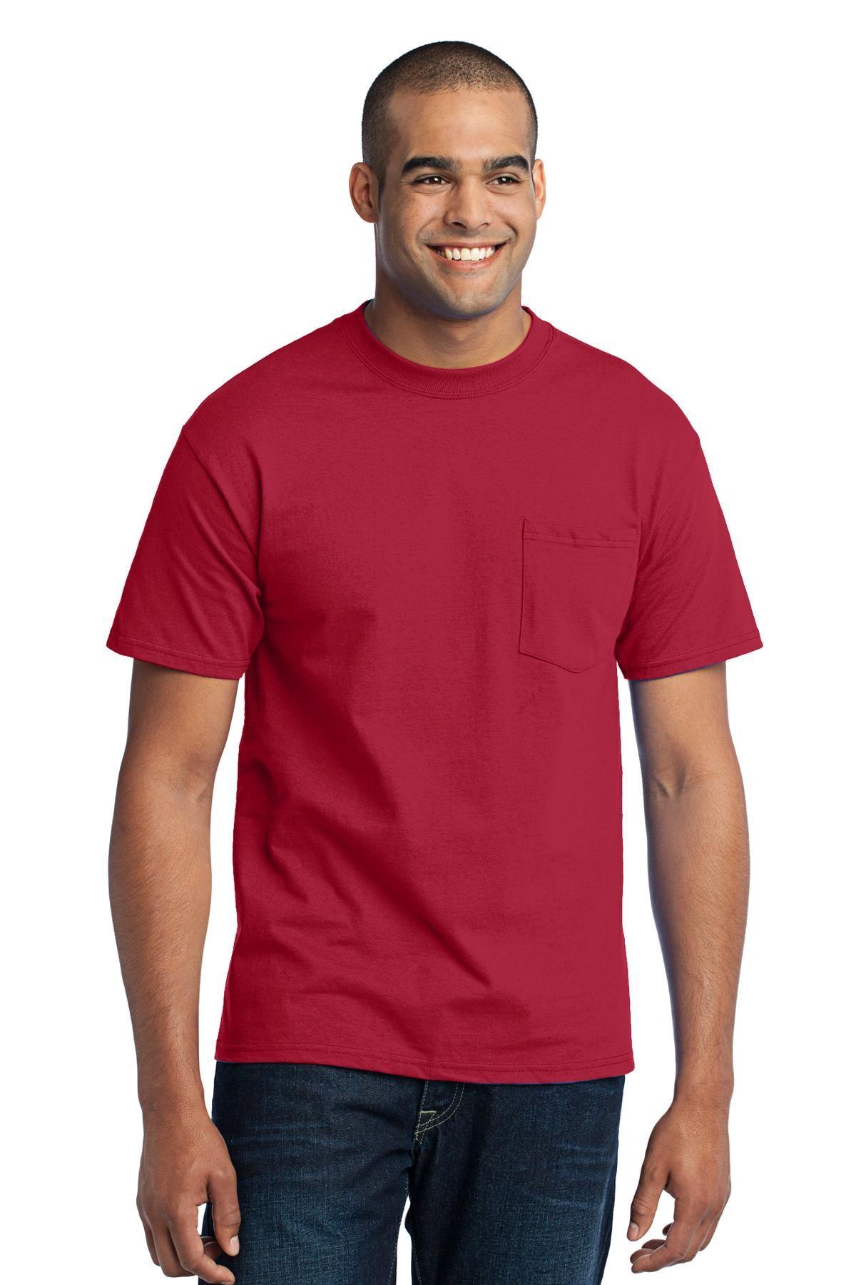 Sanmar Wholesale Imprintable Apparel Accessories Pocket Tee Men Shirts Pocket Tee