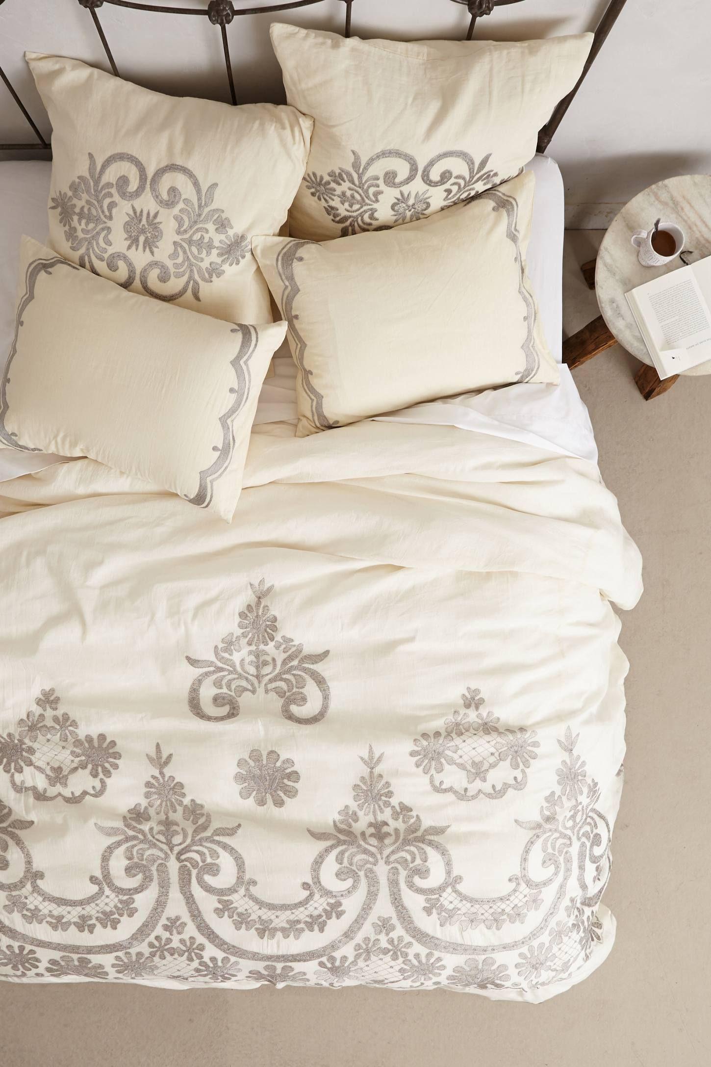 Samirah Embroidered Duvet Bohemian bedding sets, Bed