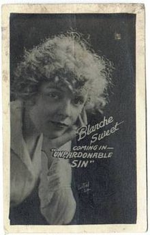 The Unpardonable Sin. Blanche Sweet, Edwin Stevens, Mary Alden, Matt Moore, Wesley Barry. Directed by Marshall Neilan. World Pictures. 1919
