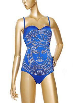 a632bb3bbfcd9 Versace - Embossed Medusa Head Swimsuit Medusa Head