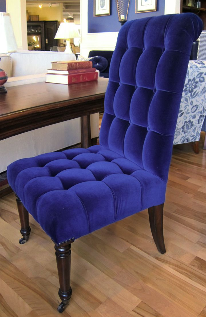 royal blue chairs folding cane chair ugh in love with this velvet desk fauteuils et