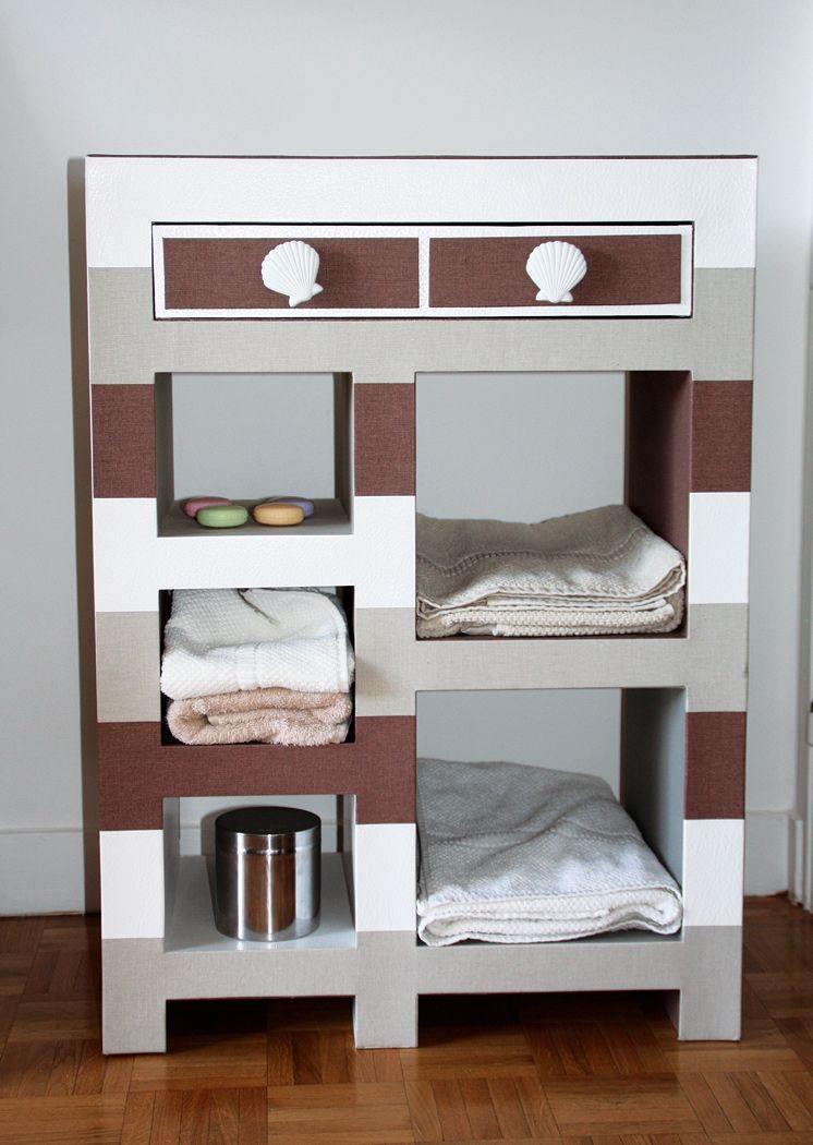 1000 images about meuble salle de bain carton on pinterest - Tuto Meuble Salle De Bain