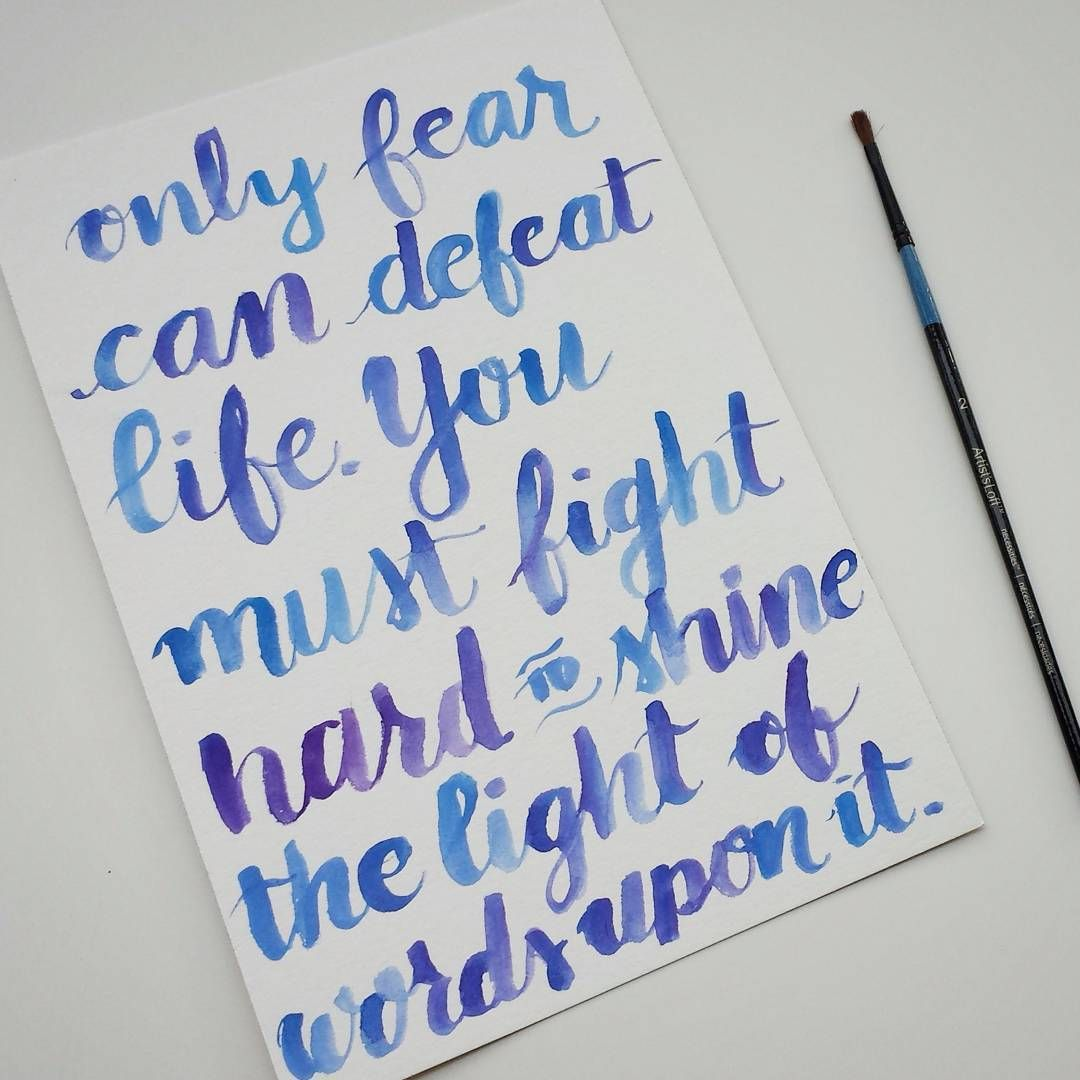 """A friend loves this quote from Life of Pi - good morning!   #lettering #handlettering #handlettered #calligraphy #brushlettering #fauxcalligraphy…"""