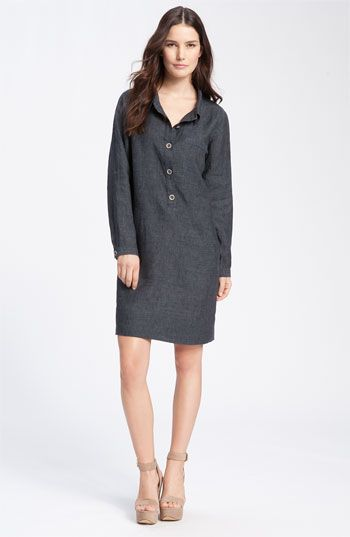 Eileen Fisher Linen Shirtdress With Images Eileen Fisher Clothes Fashion