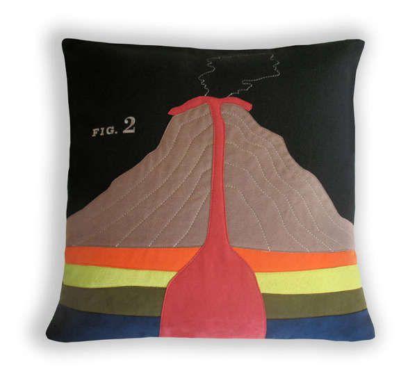 Volcano Anatomy Pillow by Heather Lins | Nerd, Bath & Beyond ...