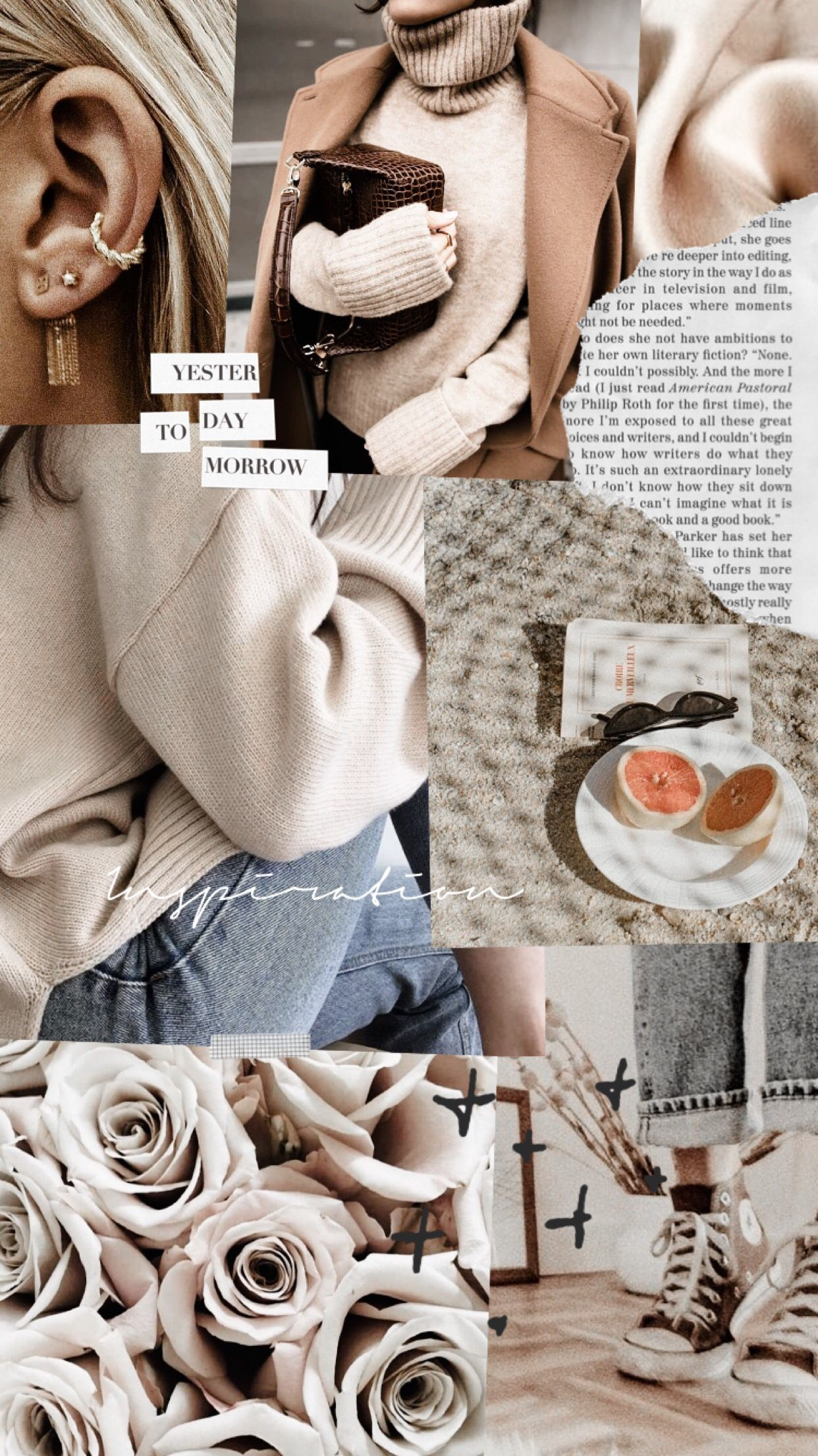 Collage beige aesthetic inspiration by _crossedfingers