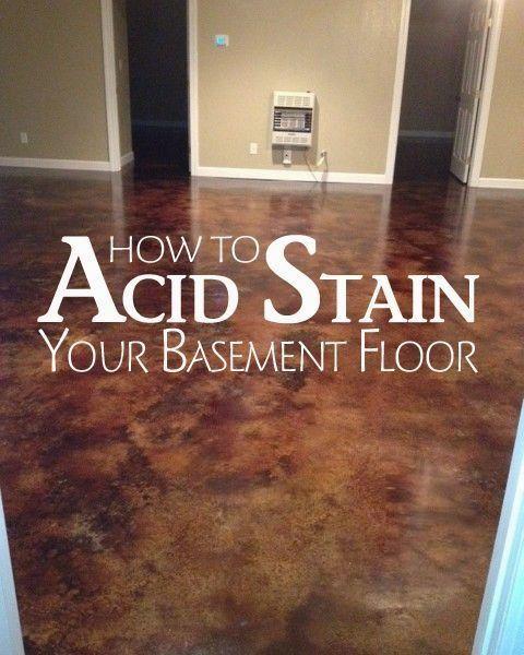 Acid Stain Concrete Basement Floors