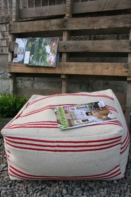 puff de tecido - tapete | tutorial / pap | Pinterest | Nähen, Kissen ...