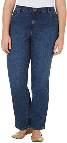 4dd4c18e21f Gloria Vanderbilt Womens Plus Size AmandaClassic Straight Leg Jean in Short  Length Scottsdale Wash 16W     Check out this great product.