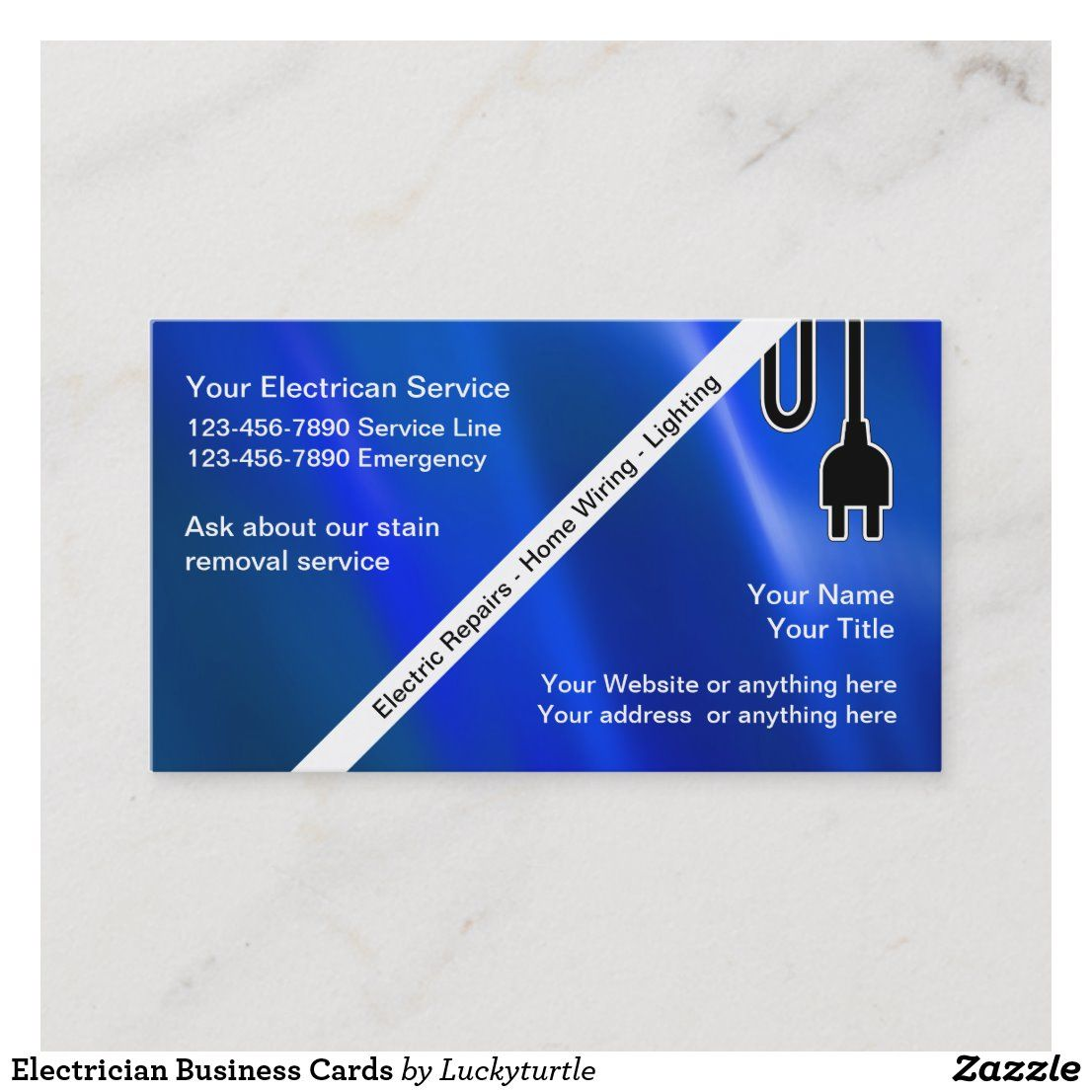 Electrician Business Cards Zazzle Com In 2021 Electrician Business Cards Business