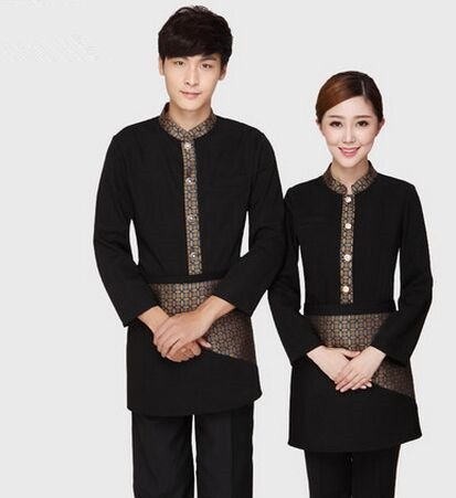 Hotel Uniform For Waitress Fast Food Restaurant Uniform Chinese