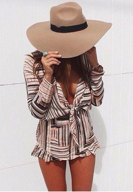 #summer #fashion / geo print playsuit