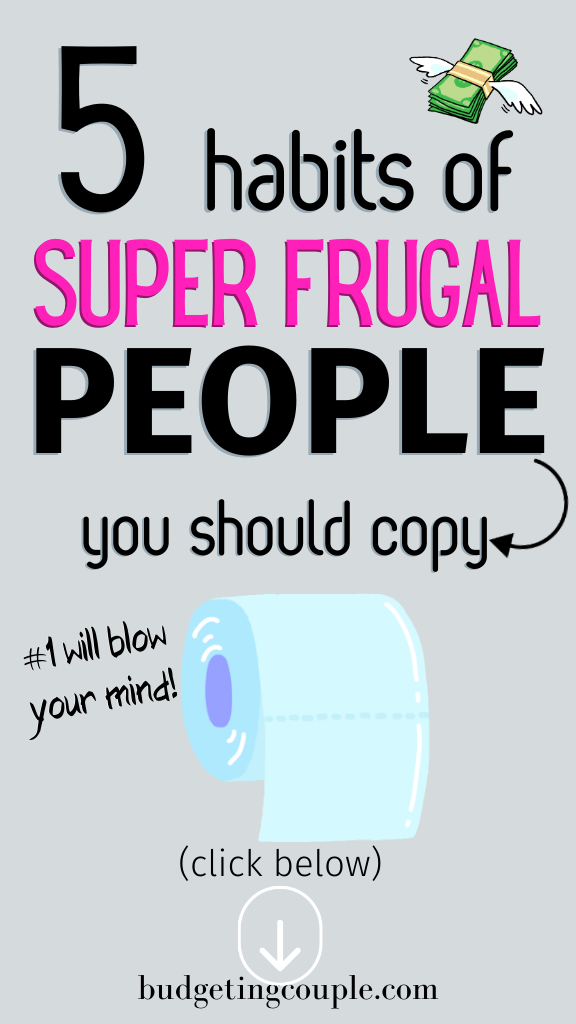 Trying to learn how to save money & live a frugal lifestyle? Check out these habits of super frugal people that can help you save money & take control of your finances. These frugal tips are perfect for budgeting beginners or those looking to build their savings. BudgetingCouple.com