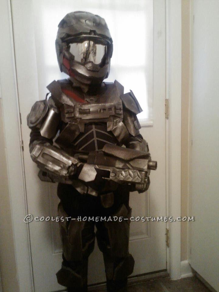 epic homemade halo reach spartan costume - Halo Reach Halloween Costume