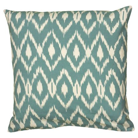 Cotton pillow with an ikat-inspired diamond motif.  Product: PillowConstruction Material: 100% Cotton cover and ...